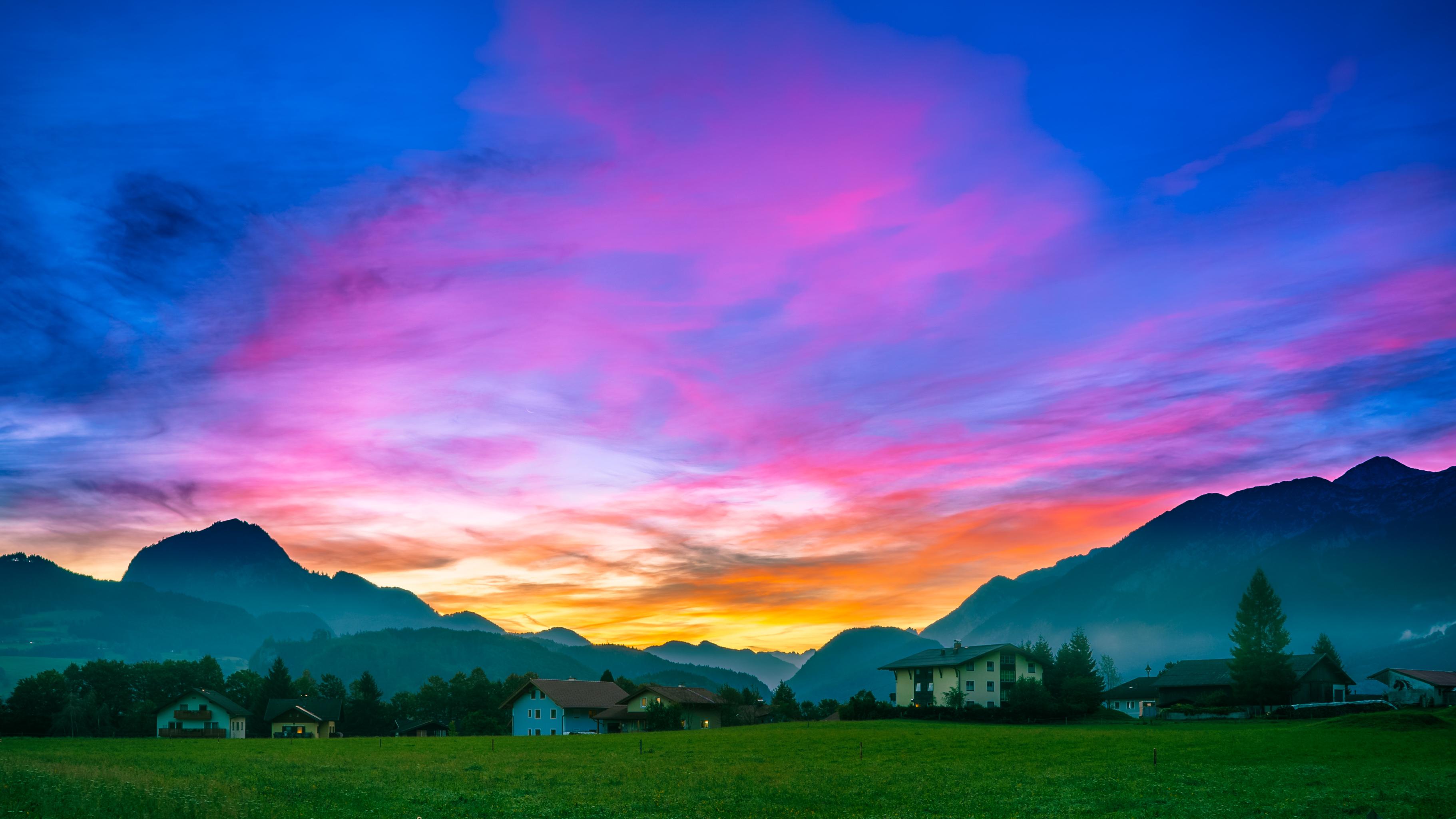 Golling bei Sonnenaufgang