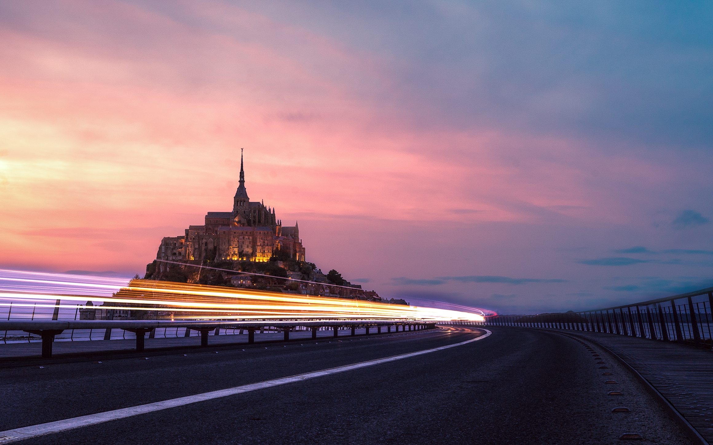 lights and St mont michel