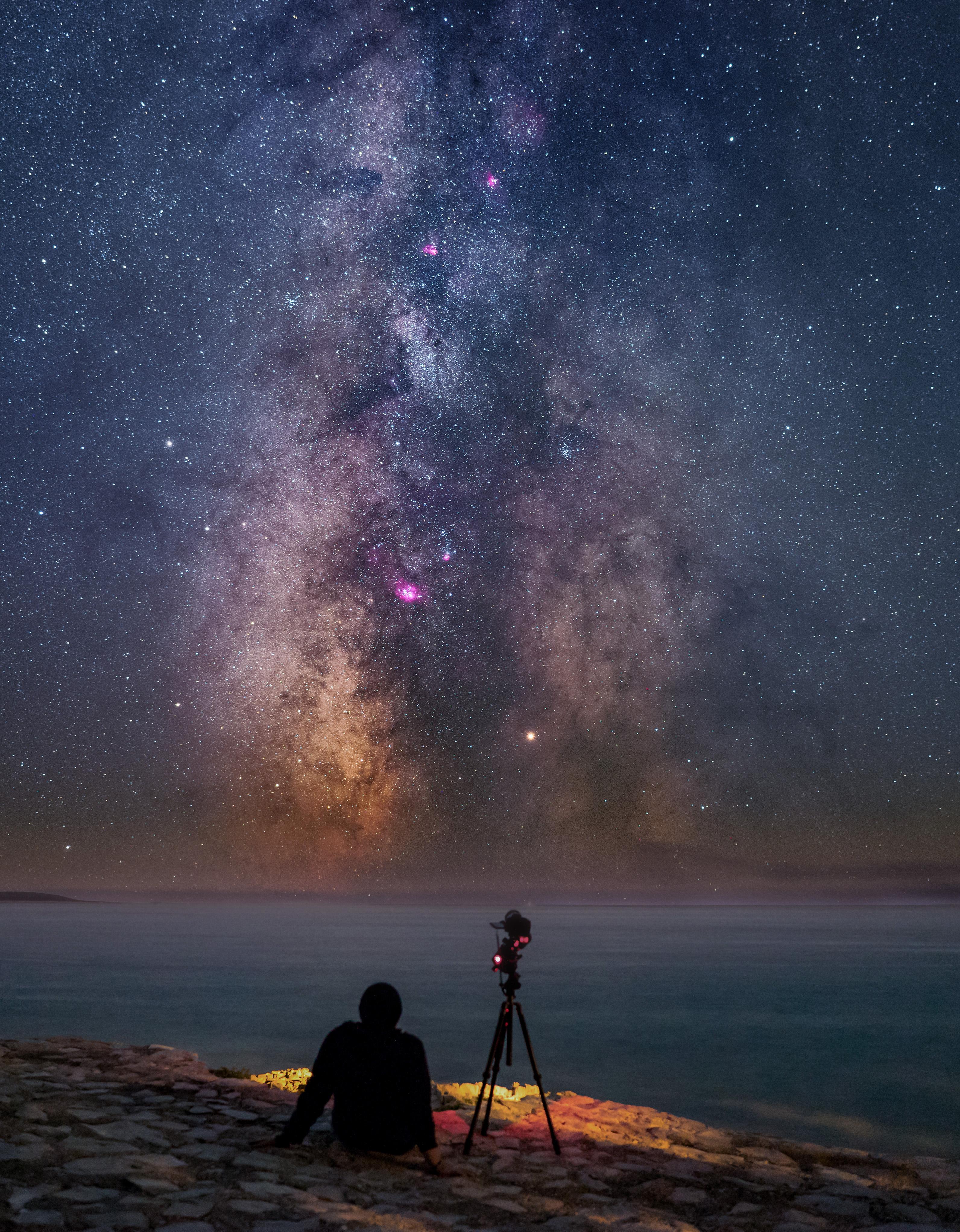 genießt die milchstraße