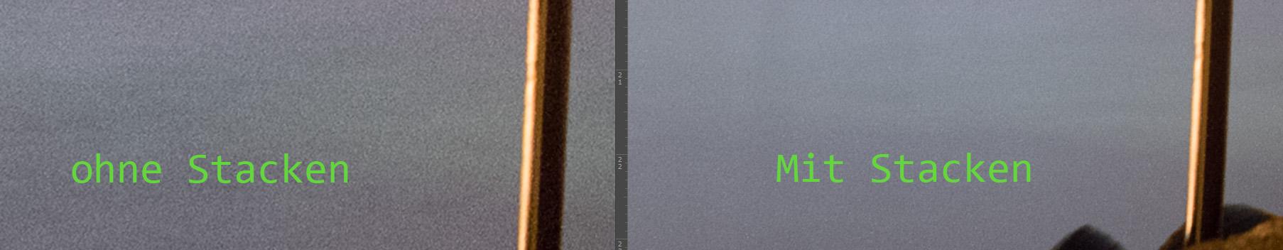 Stacken in Photoshop um das Rauschen zu reduzieren