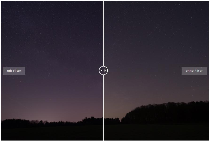 Filtertest # 1:  Astro-Filter bei der Milchstraßenfotografie